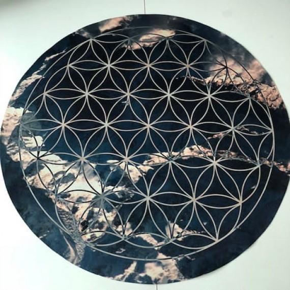 Tapete Geometria Sagrada Flor da vida
