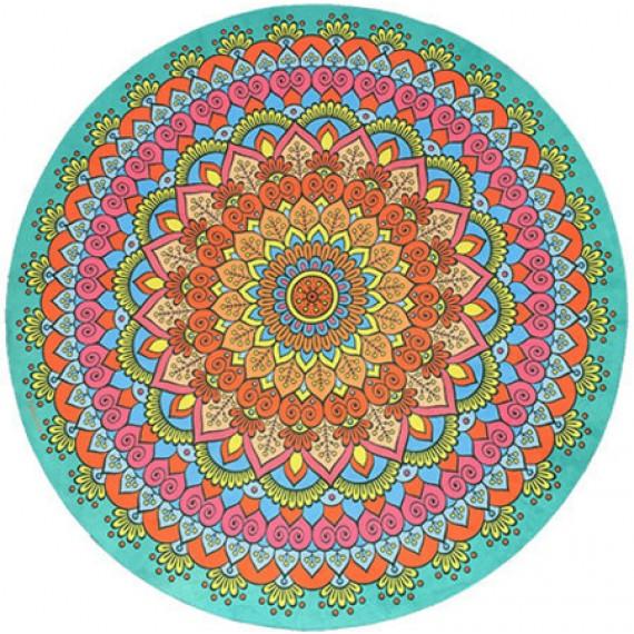 Manta Mandala Aveludada  Multicolor
