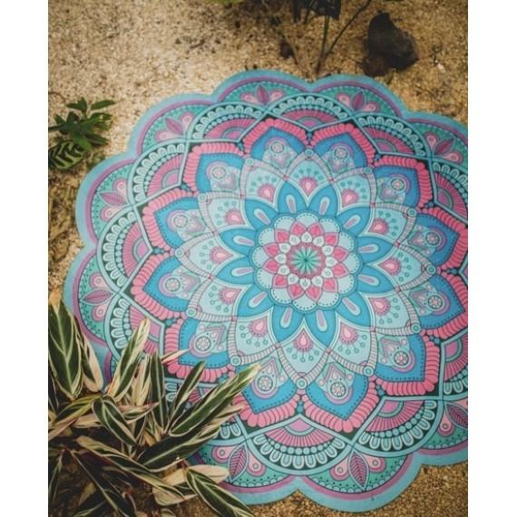Tapete Mandala Floral Acqua