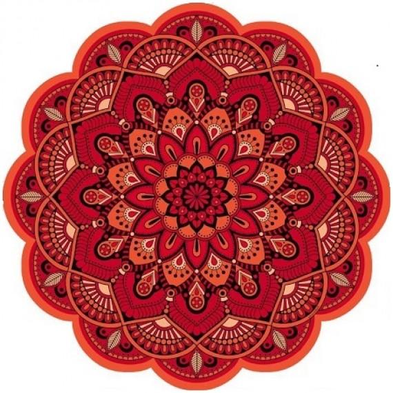 Tapete Mandala Floral Laranja
