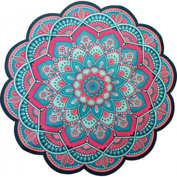 Tapete Mandala Floral Rosa e Azul