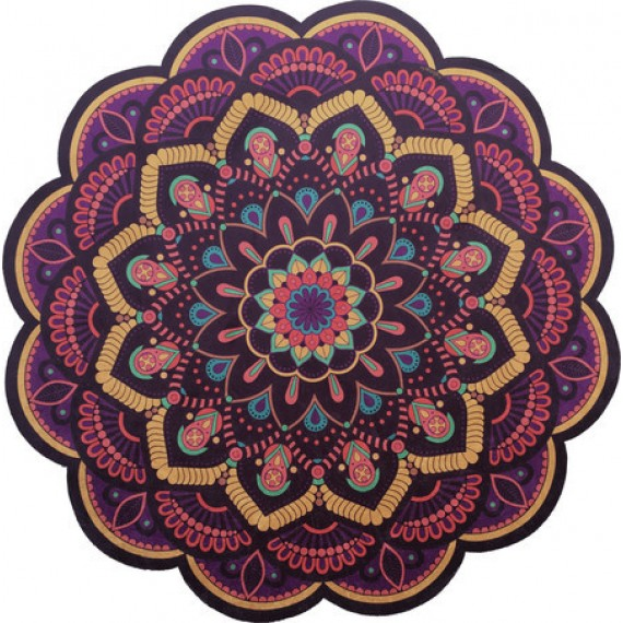 Tapete Mandala Floral Roxo