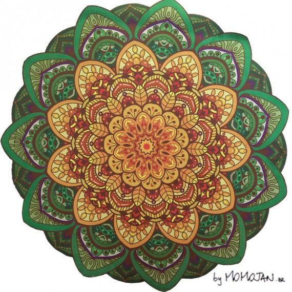 Tapete Mandala Lótus Chakras Anahata, Manipura e Swadhisthana by Momojan