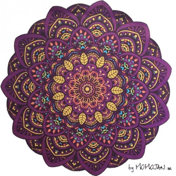 Tapete Mandala Lótus Conexão, Equilíbrio e Alegria by Momojan
